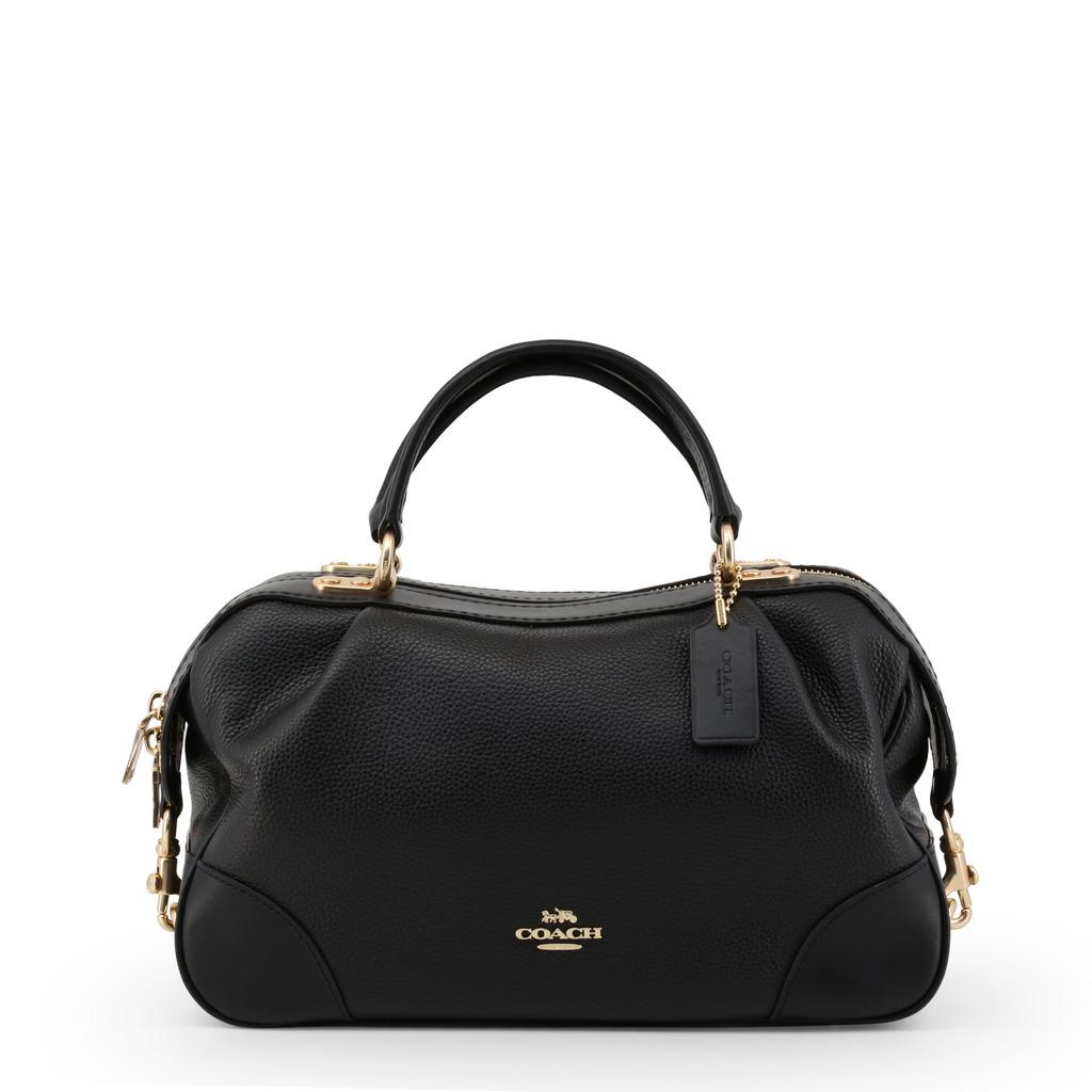 59057b170696 Стильная черная кожаная сумка саквояж Coach - Biju De Pari